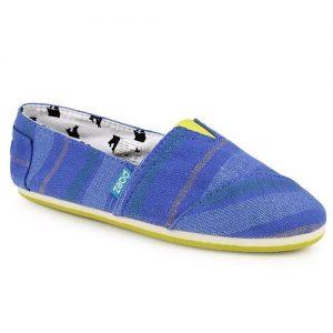 Loafers από πανί multi colour Μπλε